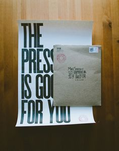 The pressure is good for you || Adam Garcia #lettering #postage #design #poster #hand #typography