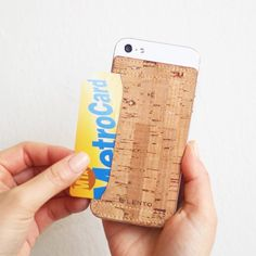 Cork Skin iPhone 5 Card Pocket #gadget