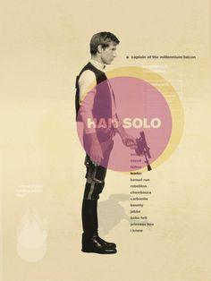 Star Wars Original Trilogy Mid Century Modern Posters Star