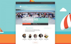 Conference website design for Agile on the Beach