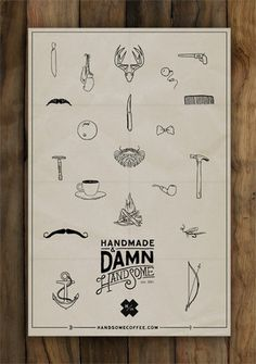 Handsome_Coffee_poster #design #coffee #handmade