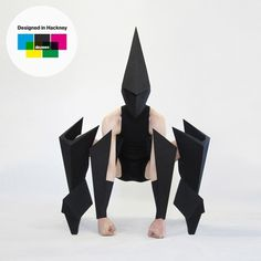 Dezeen » Blog Archive » Designed in Hackney: Costume designs for Carbon Life by Gareth Pugh #dance #black #geometric #mask #robo #awesome