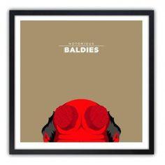 Notorious Baldie HELLBOY by Mr Peruca #print
