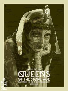 QUEENS OF THE STONE AGE 4 THE BRIANEWING.COM BODEGA #poster #qotsa