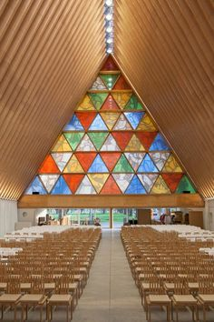 Shigeru Ban Cardboard Cathedral #design #architecture #eco #green