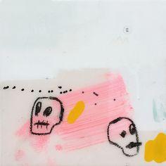 double trouble gino belassen – skulls / contemporary painting