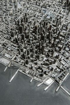 A Miniature City Built with Metal Typography | Colossal #metal type #printing press #mini city #hong seon jang