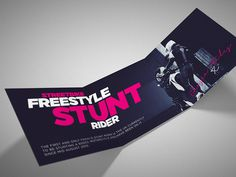 Streetbike freestyle stunt rider flyer #uv #pink #print #flyer #bold #freestyle #stunt #photography #bike #stock #rider