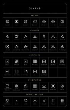 Print Design / Glyphs #bvbn