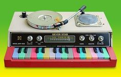 miniorgan - SILVER STAR, ORP-1803 (1976) #radio #turntable #keyboard #silver #70s #vintage #star #music #toy #instrument