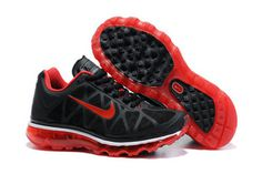 Mens Air Max 2011 Black Red Shoes #shoes