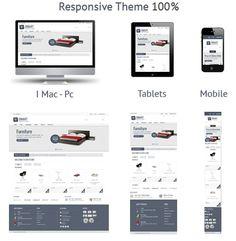 Dmart - Responsive Drupal Template #interior #commerce #responsive #design #clean #store #ecommerce #furniture #brown #theme #drupal #minimal #gray #mobile #ready #online