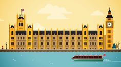 Animated London city guide #animation #guide #london #city #design #travel #illustration #england