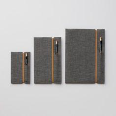 Selvedge Chambray Notebook Cover. #penholder
