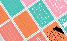 Nada on Behance #line #typography #polished #minimal #pastel