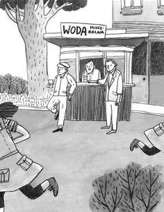 polska ilustracja dla dzieci #illustration #seller #water #street