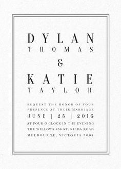 Classic Design - Wedding Invitations #paperlust #weddinginvitation #weddingstationery #weddinginspiration #cards #classic #invitation #lett