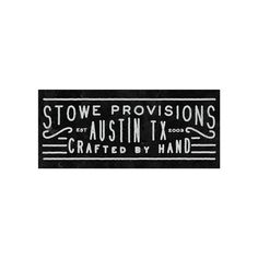 Branding work for Stowe Provisions by Nicholas Samendinger