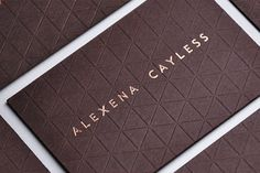 Daily Designer #business card #emboss #luxury #bronze foil