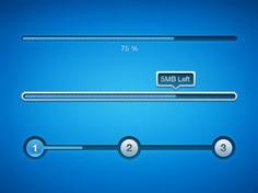 Blue download progress bar psd Free Psd. See more inspiration related to Blue, Bar, Ui, Step, Psd, Progress bar, Material, Progress, Article, Horizontal and Pure on Freepik.