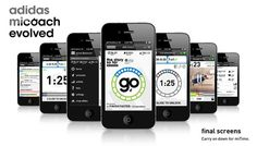 adidas miCoach evolved #adidas #redesign #design #iphone #app #fitness #micoach