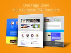 Zed House : Multipurpose One Page PSD Template