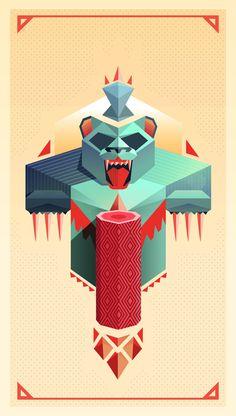 Masha and the Bear #digital #design #art #vector