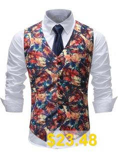 Man #Formal #Wear #Wedding #Suit #Waistcoat #- #MULTI