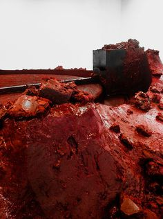 Anish Kapoor, My Red Homeland, 2003, Courtesy the artist and Lisson Gallery. #sculpture #red #my #homeland #kapoor #anish