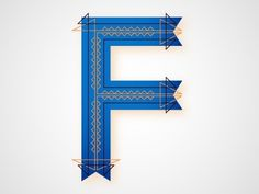 Dribbble - F by Chris Rushing #lettering #letters #typography #letterforms #type #dropcap