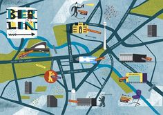 Berlin Map : nomono #illustration #berlin #map