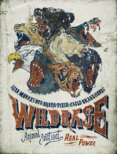 WILD RAGE _ Animal Instinct on Behance by Danilo Mancini