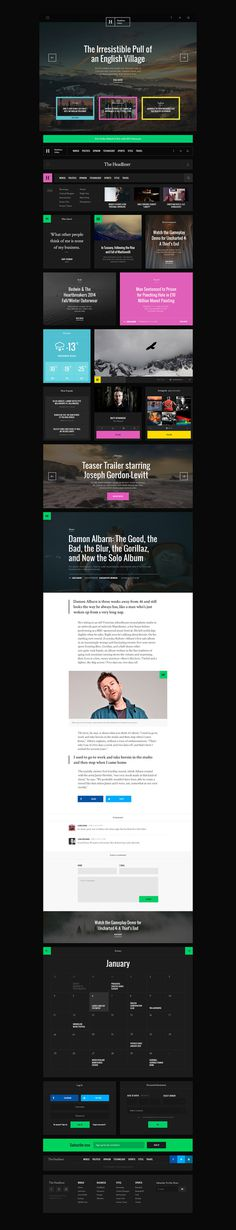 Headliner UI KIt Preview #design #sample #kit #ui