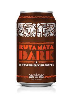 Ruta Maya Dark packaging design #design #packaging #mexico #maya #central america #ruta