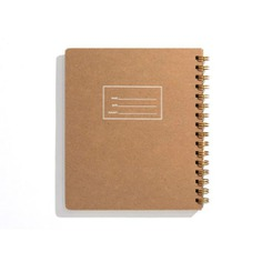 Minimalist Left-Handed Notebook Lefties rejoice! This Minimalist Left-Handed Notebook is specially made for you! It features a hard cover with rounded corners to prevent bent pages; and included 160 interior pages that open flat. Great for sketching, note-taking, or journaling. Made in the US.