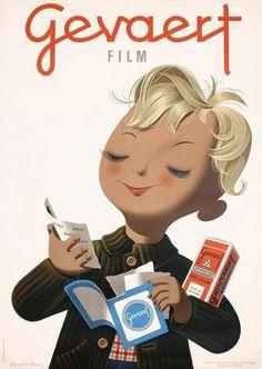 Brun #donald #vintage #poster #film #gevaert #brun