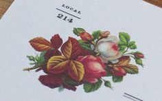 stationery #design #graphic #floral #illustration #identity