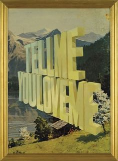 Wayne White | Word Paintings | bumbumbum #painting #awsome #art #typography