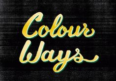 Ok, back to work. #color #typography