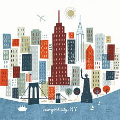 MichaelMullan_03 #ny #city #rough #texture #simple #illustration