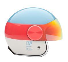 Helmet w/rainbow visor