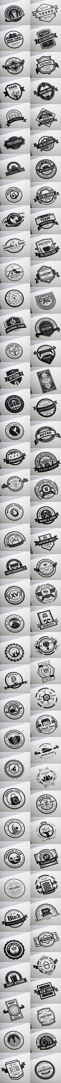 80 Vintage Labels & Badges Logos - Premium Bundle on Behance