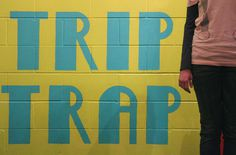 Trip trap wall graphics #graphics #gruff #painting #the