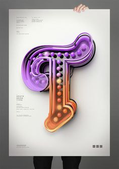 Typography 10. on Behance #10 #peter #poster #tarka #type #3d #typography