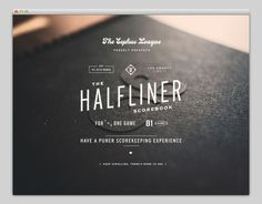 Halfliner #handcrafted #design #graphic #type #typography