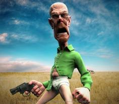 Breaking Bad - Walter White (Bryan Cranston) - 3D Art
