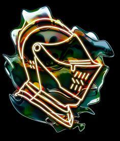 #helmet #artwork #illustration #digital #art #neon #kolotusha