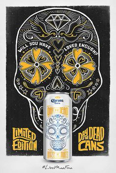 Corona Day of The Dead Cans #beer #cans