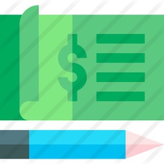 See more icon inspiration related to business and finance, dollar symbol, payment, checked, bank, check, pen and money on Flaticon.