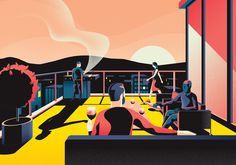 Essential Living – Illustration Series on Behance #art #colored